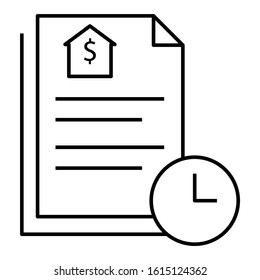 Loan Application in Process concept, mortgage paperwork in progress design, Waiting for Approval on White Background