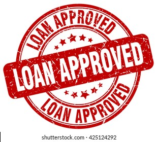 loan approved. stamp