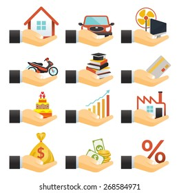 Loan, Hands with Objects Credit, Business Marketing Banking Finance and Money