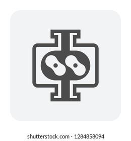 Lobe water pump icon.