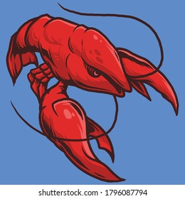 Lobster cancer zodiak Illustration Vector