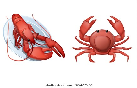 Lobster and crab