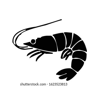Lobster, crawfish, crayfish silhouette, vector illustration
