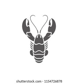 Lobster icon isolated on white background vector illustration. Seafood vector graphic silhouette.