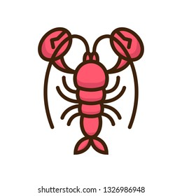 Lobster Icon isolated on white background
