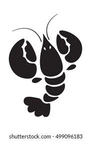 Lobster icon, vector