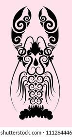 Lobster ornament vector. Use for restaurant, cafe logo design