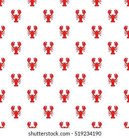 Lobster pattern. Cartoon illustration of lobster vector pattern for web