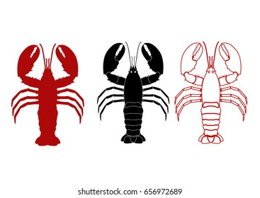 Lobster vector illustration for artwork