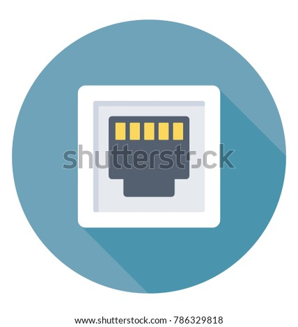 Local Area Network Port Lan Port Stock Vector Royalty Free