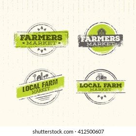 Local Farm Logo,  Local Farm Food Concept, Local Farm Creative Vector, Local Farm Design Element. Local Farm Stamp Set, Local Farm Insignia Labels, Local Farm Background, Local Farm Market Sign