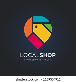 Local shop logo template
