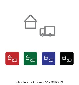Location, delivery, fulfillment, truck vector icon . Simple element illustration from UI concept. Location, delivery, fulfillment, truck vector icon . Cargo Icon Vector