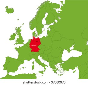 Location of Germany on the Europa continent