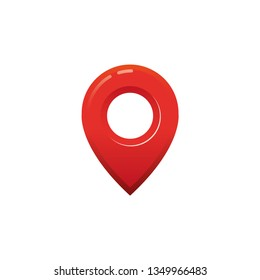 Location icon. 3D style. Vector illustration.