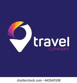 Location icon app, Logo location, Travel logo