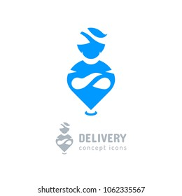 Location icon Delivery symbol. Aladdin icon, Genie flat symbol. Vector illustration