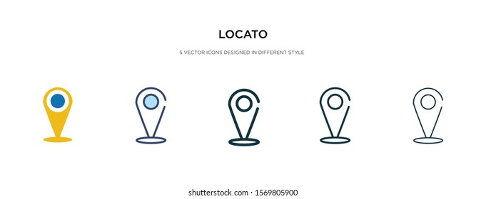 location icon in different style vector illustration. two colored and black location vector icons designed in filled, outline, line and stroke style can be used for web, mobile, ui