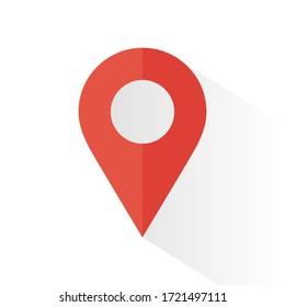 location icon isolated on white background. Vector illustration. Eps 10.