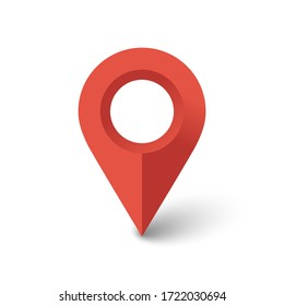 location icon isolated on white background. Vector illustration. Eps 10.
