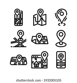location icon or logo isolated sign symbol vector illustration - Collection of high quality black style vector icons