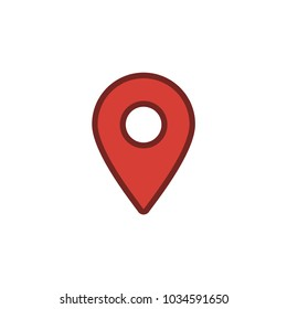 Location icon, map pin, gps pointer