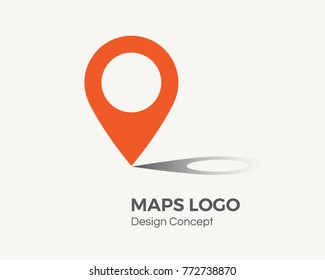 Location icon. Map pointer sign. Navigation pin symbol. Creative logo design template. Applicable for posters, placards, labels, tags, banners, branding and identity. Vector illustration. EPS 10.