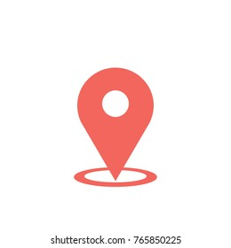 Location icon. Vector illustration.