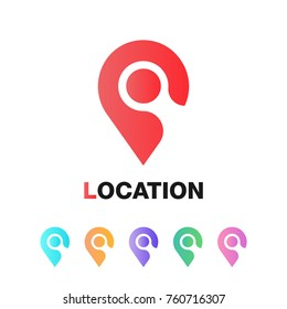 Location icon vector. Pin sign isolated on white background. Navigation map, gps, direction, place, compass, contact, search concept. Flat style for graphic design, logo, web, UI.