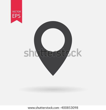 Location Icon Vector Pin Sign Isolated Stock-Vrgrafik ... on