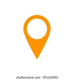 location icon vector.Orange icon