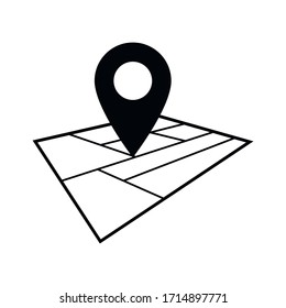 Location icon vector.Pointer sign.GPS location.Map pin symbol