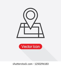 Location Icon,Map Icon Vector Illustration Eps10