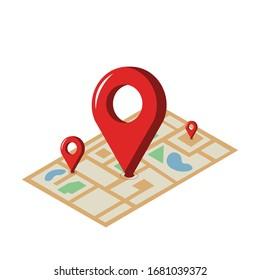Location illustration design element. flat icon.