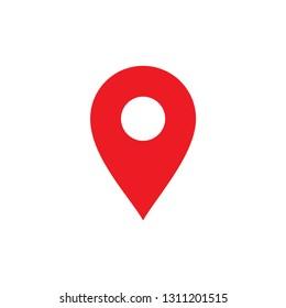 Location map icon, gps pointer mark - Vector