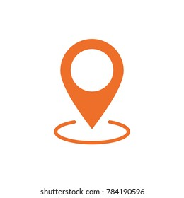 Location map icon, gps pointer mark