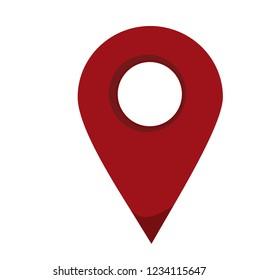 Location map icon. Vector illustration.