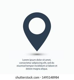 location, map icon vector illustration EPS10.