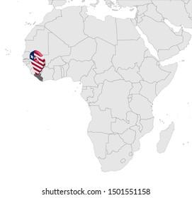 Liberia Map Images, Stock Photos & Vectors   Shutterstock