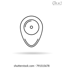 Location Pin Icon Sign or Logo Vector Illustration.EPS 10