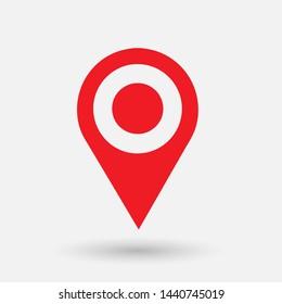 location pin icon,check-in loaction icon vector