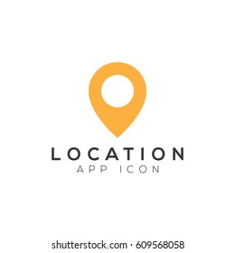 Location pin navigation logo template