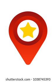 location pin with star icon design vector illustration