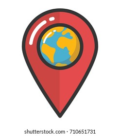 Location Pin Vector Icon
