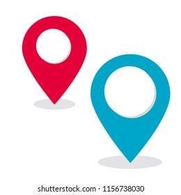 location pin vector icon for mapping and satellite allocation