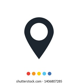 Location point icon,Vector and Illustration.