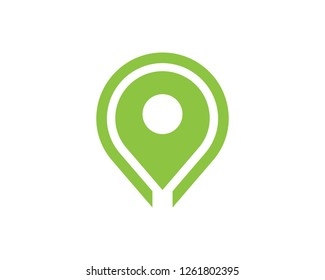 Location point Logo template vector icon illustration design