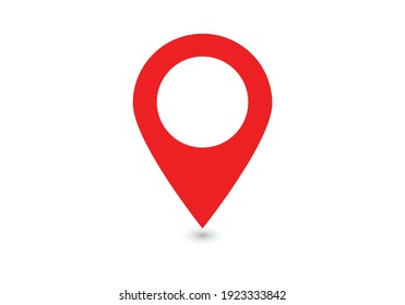 Location red icon. Thin lines