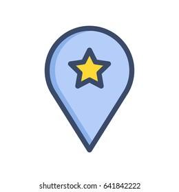 Location Star  Icon Vector Illustration