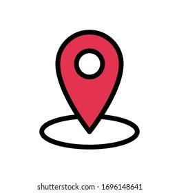 location vector flat color icon